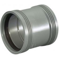 HC pp dobbeltmuffe grå 50mm