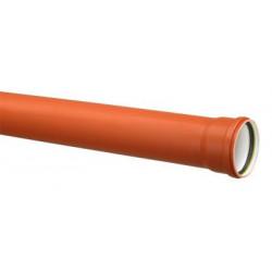 Nedløbsrør 0,7-76mm 2m Kobber