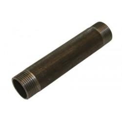 Nippelrør sort 3/4 70 mm