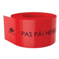 Kabeldækbånd rød 2x100mm