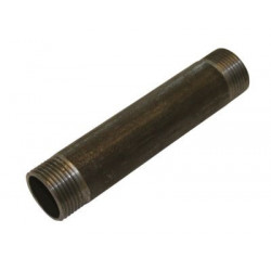 Nippelrør sort 1 100 mm