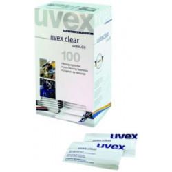 Uvexbrille og renseservietter