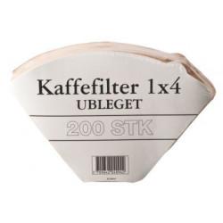 Kaffefilter Ubleget 1x4